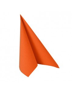 Servilletas papel aspecto tela naranja intenso Royal Collection 33 x 33 cm