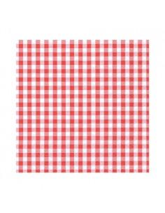 Servilletas papel cuadros vichy rojo/blanco 25 x 25cm