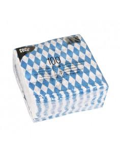 100 Servilletas de Papel Económicas 33 x 33cm Baviera Azul