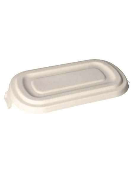 Tapas envase caña azúcar compostable para llevar Pure 750ml