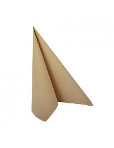 Servilletas papel aspecto tela marrón arena Royal Collection 25 x 25cm