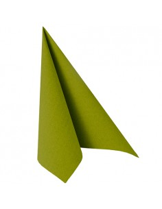 Servilletas papel aspecto tela Royal Collection color verde oliva 40 x 40 cm