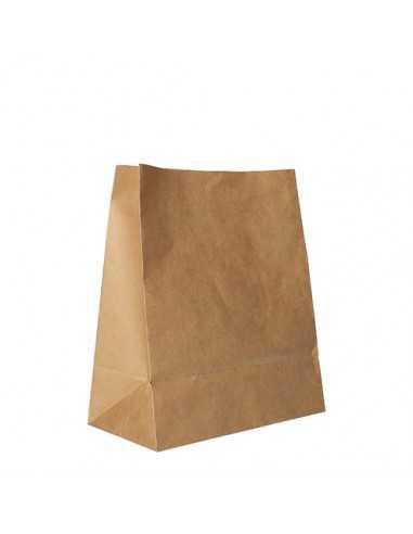 Bolsas de papel kraft marrón sin asas 22 x 18,5 x 9,7 cm