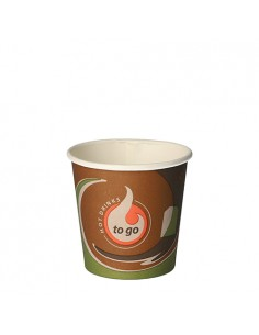 80 Vasos Cartón Café Para Llevar To Go  Ø 6 x 6 cm
