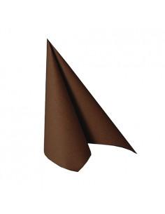 Servilletas papel aspecto tela marrón Royal Collection 25 x 25cm