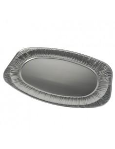 Bandejas aluminio desechables ovales 54,7 x 35,8 cm