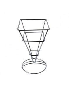 Soporte de Metal Para Conos de Papel Cuadrado 9,3 x 9,3 17,5 cm