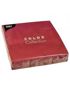 50 Servilletas 40 x 40 cm Papel Tisú Color Rojo Vino