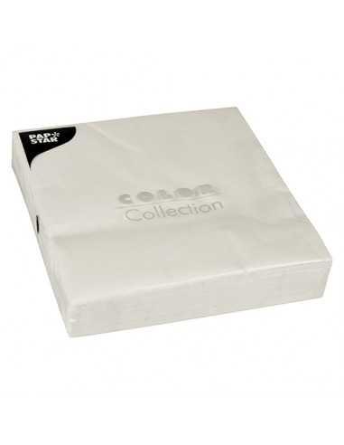 Servilletas de papel color blanco 40 x 40 cm