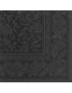 Servilletas papel decoradas Royal Collection color negro 40 x 40 cm Ornaments