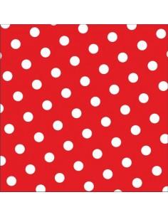 30 Servilletas Impresión Lunares Color Rojo 33x33 cm