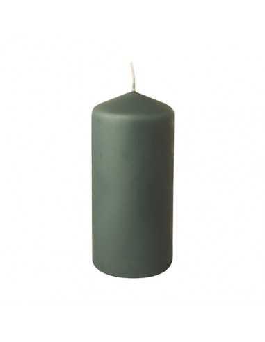 Vela taco color verde gris para decoración Ø 69 x 150 mm