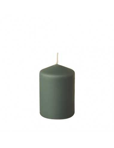 Vela de taco verde grisaceo para decoración Ø 69 x 100 mm