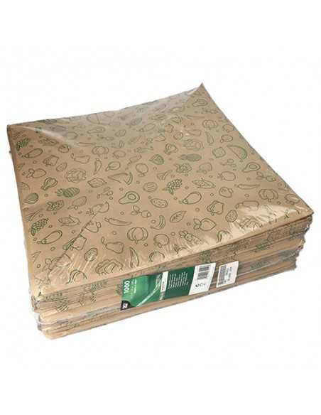 Bolsas cónicas de papel impresas fruteria marrón 1500gr