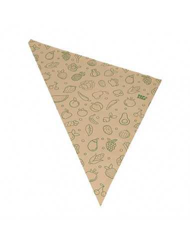 1000 Sacs en Papier kraft Pour Fruits ou Légumes 52,5 x 37 x 37 cm Marron