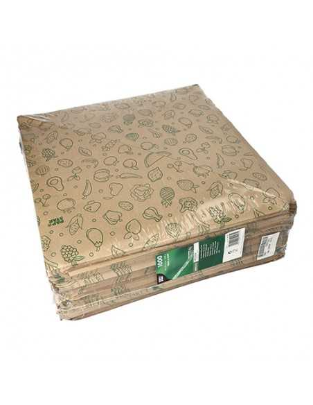 Bolsas cónicas de papel impresas fruta / verdura marrón 1000gr