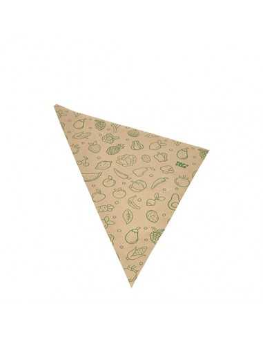 Bolsas cónicas de papel impresas fruta /verdura Marrón 750gr