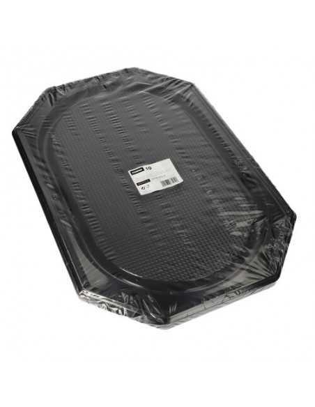 Bandejas de servicio plástico negro PET 55 x 36 cm