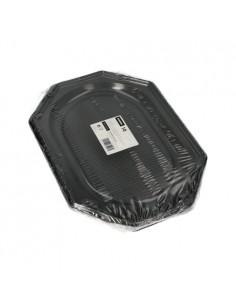 Bandejas de servicio plástico color negro PET