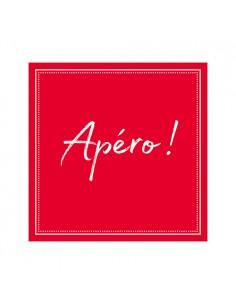 Servilletas papel rojo aperitivo impresas 25 x 25 cm Apéro