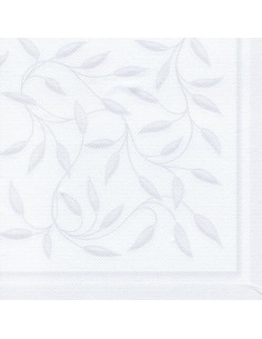 20 Servilletas 40 x 40 cm Decoradas Color Blanco RoyalCollection New Mediterran
