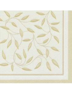 Servilletas de papel decoradas color champan Royal Collection 40 x 40 cm New Mediterran