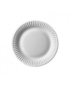 Platos cartón compostables blanco redondos Pure Ø 15cm