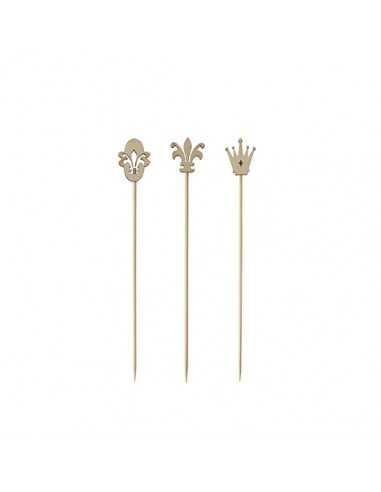 Pinchos madera de bambú 12 cm Pure modelo royal