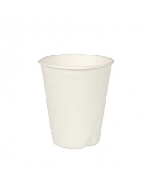 Vasos de caña azúcar color blanco biodegradables 200ml Pure