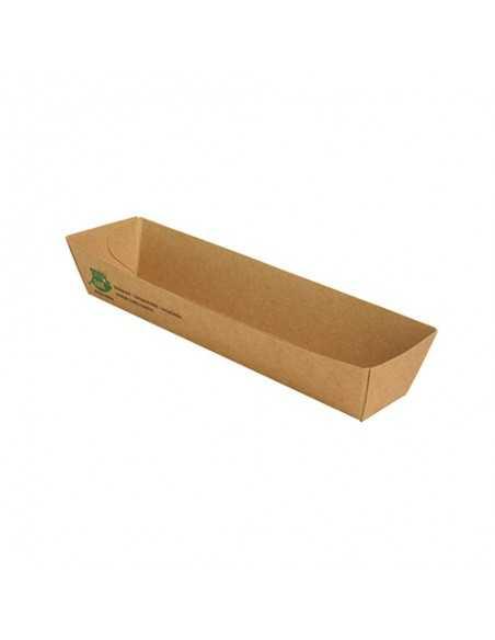 Bandejas para aperitivos cartón marrón Pure 100% Fair