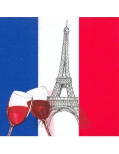 50 Servilleta Decoradas Bandera Francia 33 x 33 cm