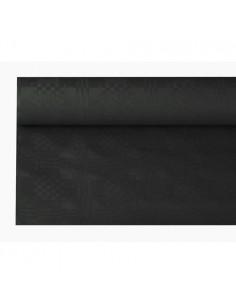 Rollo mantel papel color negro gofrado damasco 1,2 x 8 m