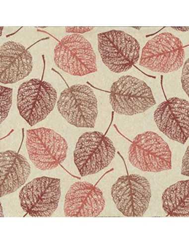 Servilletas papel reciclado decoradas hojas natural 33 x 33 cm