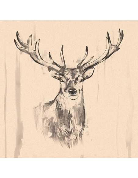 Servilletas papel reciclado decoradas 33 x 33 cm Natural Colourful Deer