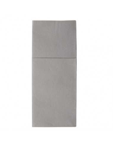 Servilletas papel funda cubiertos hostelería airlaid gris 1/8