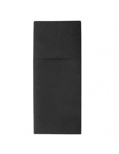 Servilletas papel funda cubiertos hostelería airlaid negro