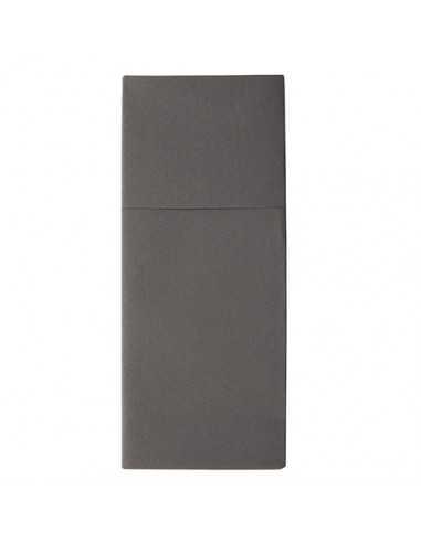 Servilletas funda cubiertos papel extra gris antracita