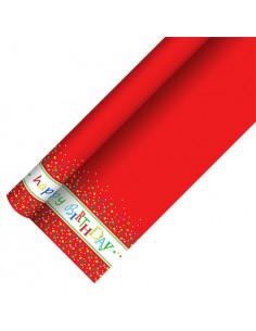 Mantel de Papel Lacado Decorado Cumpleaños 1,2 x 5 metros