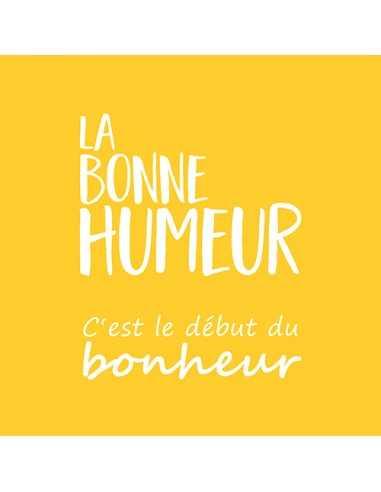 Servilletas de papel color amarillo impresas La Bonne Humeur 33 x 33 cm