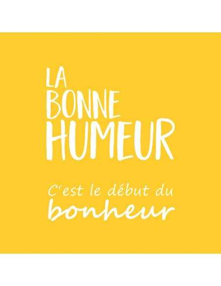 "20 Servilletas Amarillas Con Impresion 33 x 33 cm ""La Bonne Humeur"""