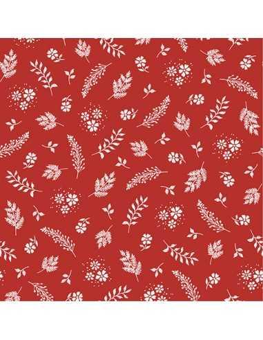 Servilletas de papel decoradas color rojo 33 x 33 cm Aurora
