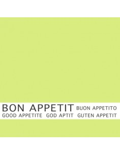 30 Servilletas Color Verde Lima Con Impresión 33 x 33cm Bon Appetit