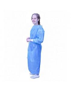 Batas higiénicas desechables de protección color azul