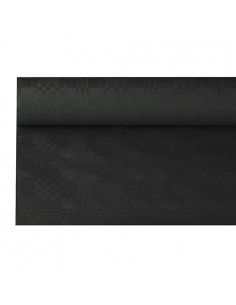 Rollo mantel papel color negro gofrado damasco 6 x 1,2m