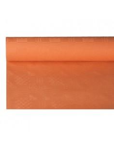 Rollo mantel papel gofrado damasco terracota 8 x 1,2 m