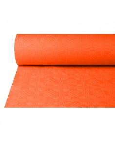 Rollo mantel papel terracota hostelería gofrado damasco 50 x 1m