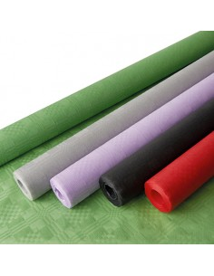 Mantel Papel Gofrado Damasco Colores Surtidos 1,2 x 8 m