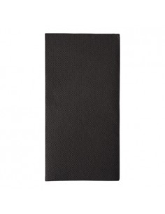 Servilletas de papel negras Royal Collection 40 x 40 cm