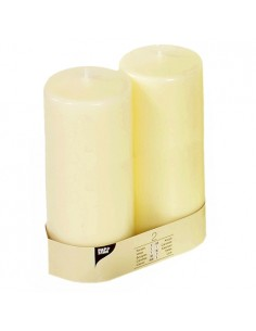 Velas de taco ivory color marfil Ø 80 x 220 mm