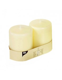 Velas de taco ivory color marfil Ø 80 x 100 mm